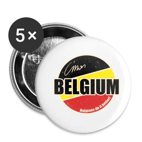 Cmon Belgium - Buttons klein 25 mm (5-pack)