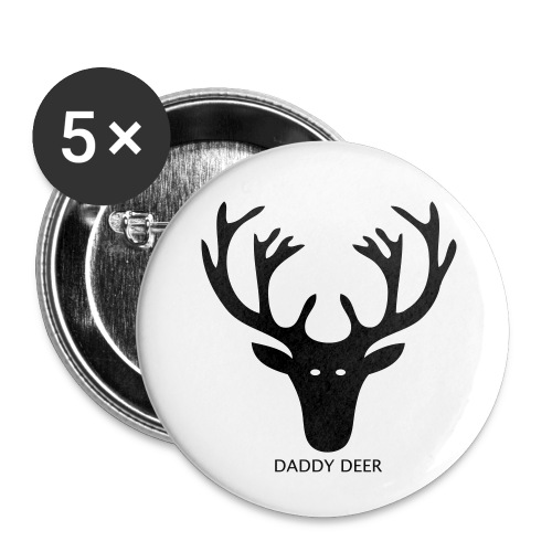 DADDY DEER - Buttons small 1''/25 mm (5-pack)