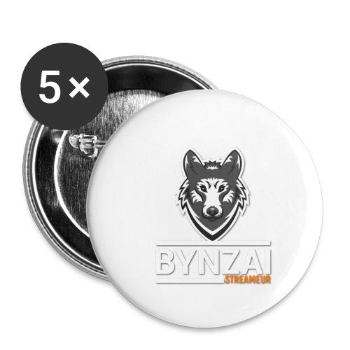 Casquette bynzai - Lot de 5 petits badges (25 mm)