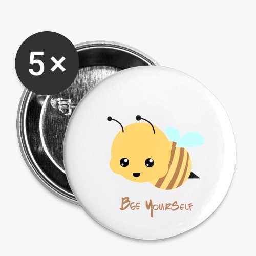 Bee Yourself - Buttons/Badges lille, 25 mm (5-pack)