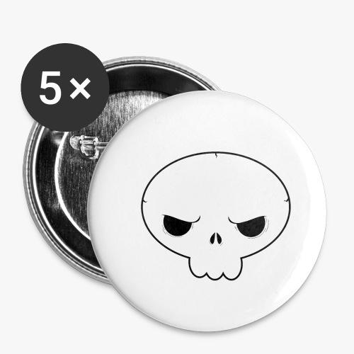 Skullie - Buttons/Badges lille, 25 mm (5-pack)