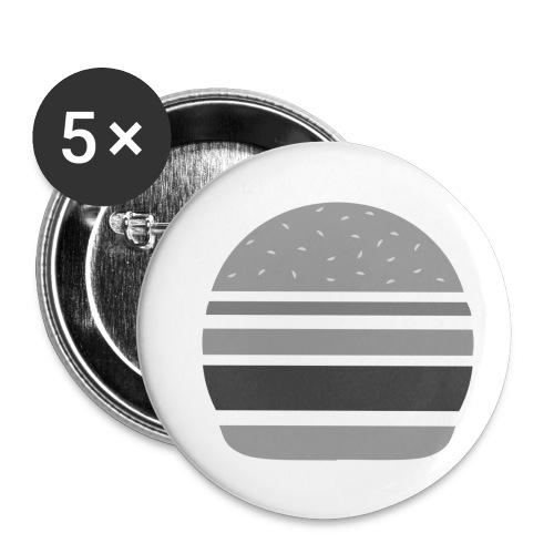 Logo_panhamburger_gris - Lot de 5 petits badges (25 mm)