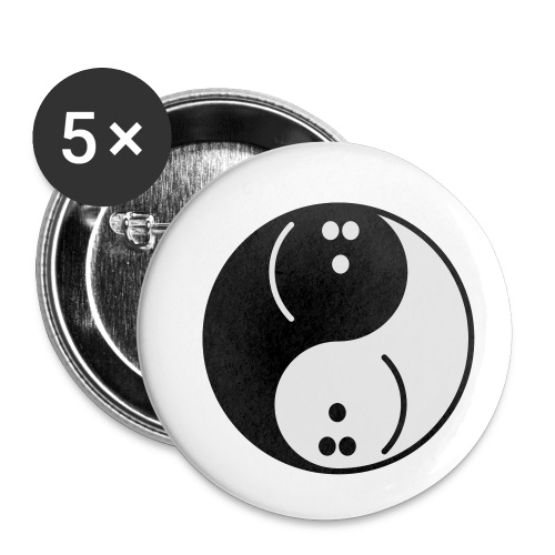 Bowling Yin-Yang - Buttons small 1''/25 mm (5-pack)