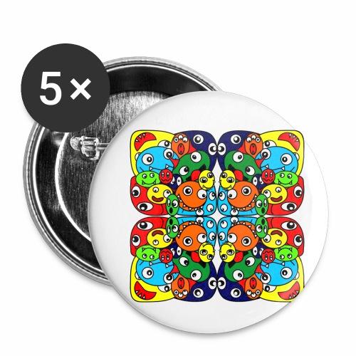 Monsterchen - Buttons klein 25 mm (5er Pack)