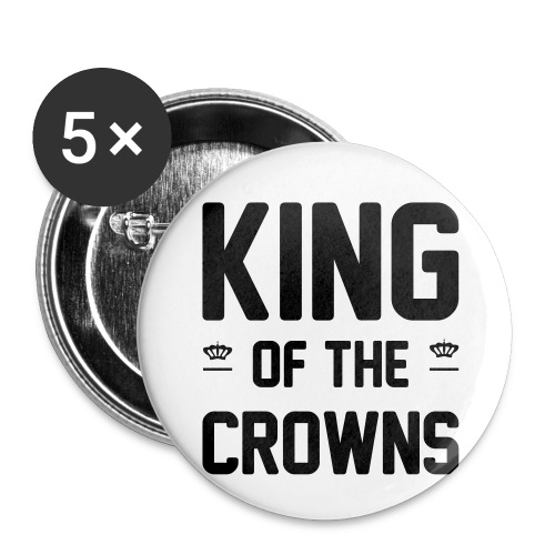 King of the crowns - Buttons klein 25 mm (5-pack)