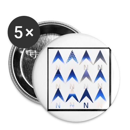Noordpijlen - Buttons klein 25 mm (5-pack)
