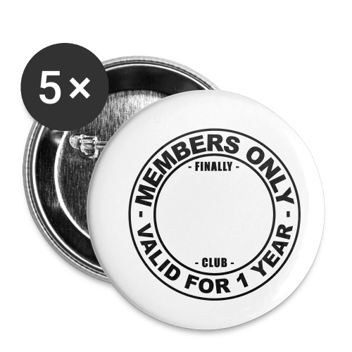 Finally XX club (template) - Buttons small 1''/25 mm (5-pack)