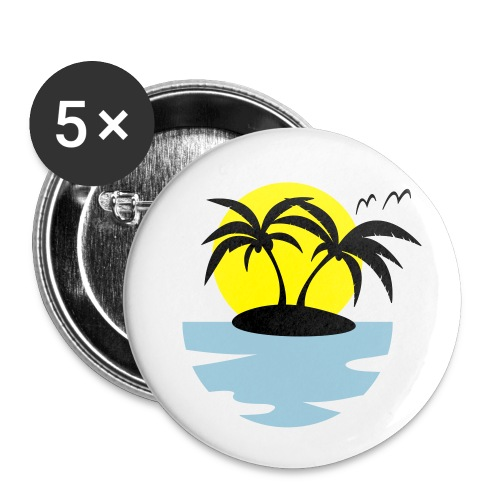 Island, Sun and Sea - Buttons small 1''/25 mm (5-pack)
