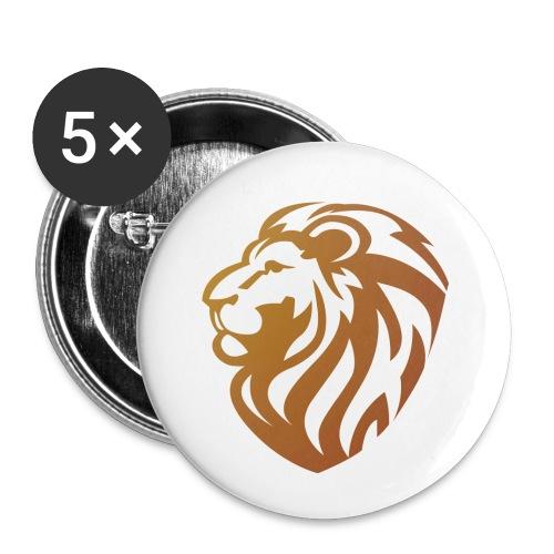 Bronze lion - Lot de 5 petits badges (25 mm)