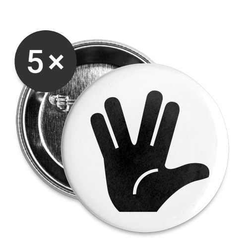 Live long and prosper - Lot de 5 petits badges (25 mm)