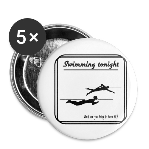 Swimming tonight - Rintamerkit pienet 25 mm (5kpl pakkauksessa)