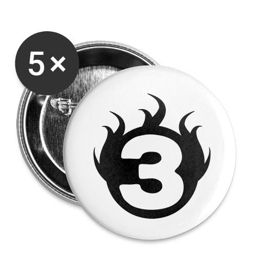 shoulder logoc - Lot de 5 petits badges (25 mm)