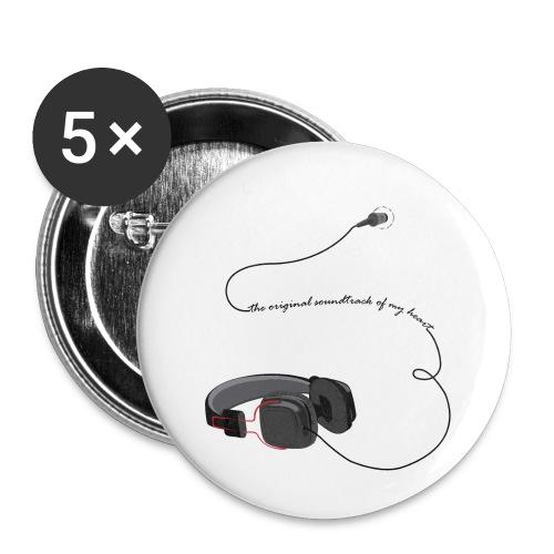Tee shirt manches longues casque soundtrack - Lot de 5 petits badges (25 mm)
