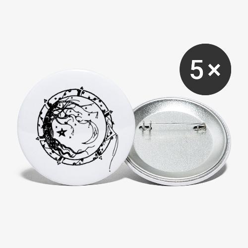 Tree of Life - Små knappar 25 mm (5-pack)