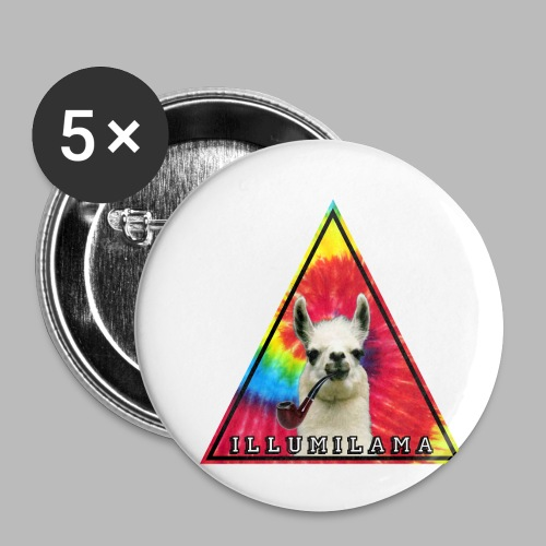 Illumilama logo T-shirt - Buttons small 1''/25 mm (5-pack)