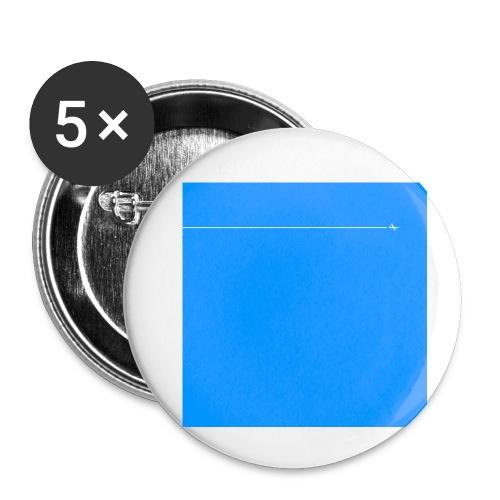 sklyline blue version - Lot de 5 petits badges (25 mm)