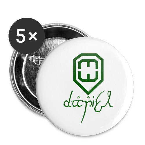 Cup logo Dan - Buttons small 1''/25 mm (5-pack)