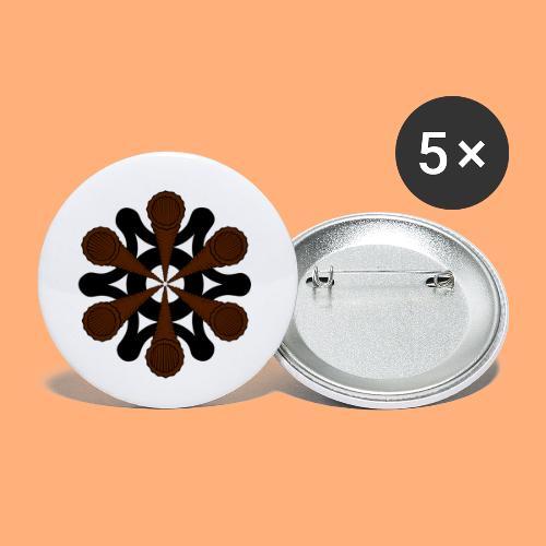 vortex - Lot de 5 petits badges (25 mm)