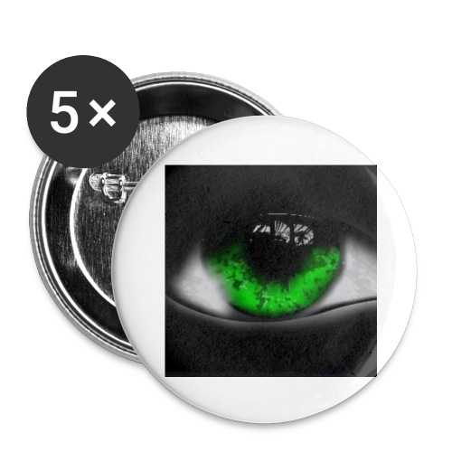 Green eye - Buttons small 1''/25 mm (5-pack)