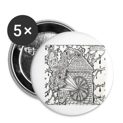 Brain Ache - Buttons small 1''/25 mm (5-pack)