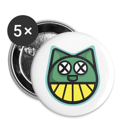 ZOMBIE CAT PRINT HOODIE - Buttons small 1''/25 mm (5-pack)