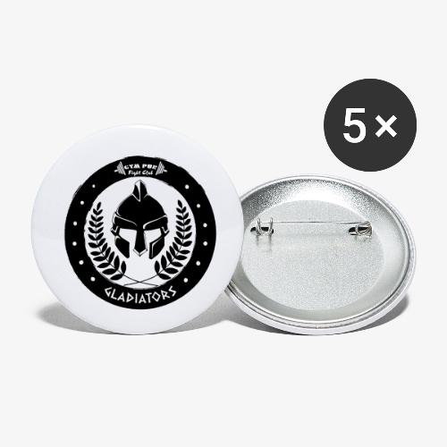 Gym Pur Gladiators Logo - Buttons small 1''/25 mm (5-pack)