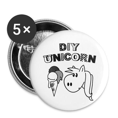 DIY Unicorn Einhorn - Buttons klein 25 mm (5er Pack)