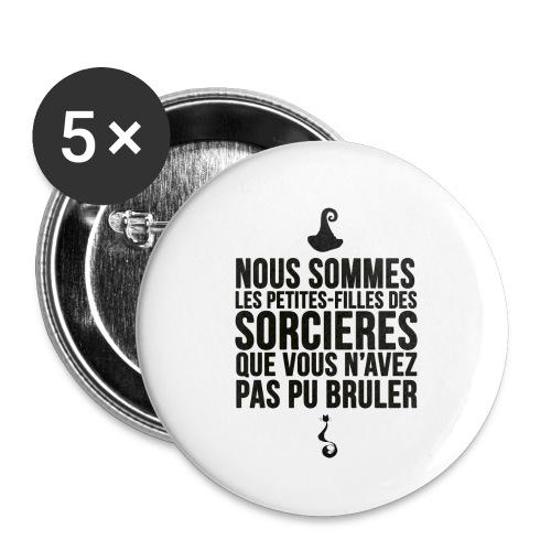 filles de sorcières - Lot de 5 petits badges (25 mm)