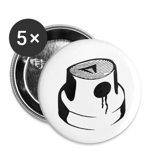Graffiti can - Lot de 5 petits badges (25 mm)