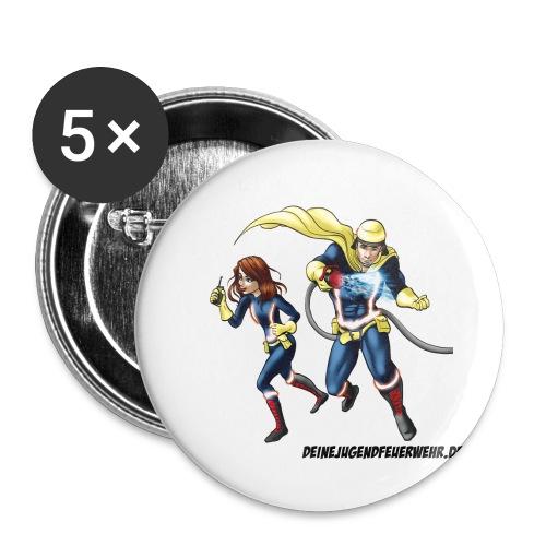 1+1=2Eine gute Connection - Buttons klein 25 mm (5er Pack)