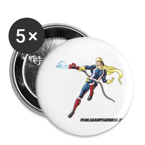 Captain Firefighter - Buttons klein 25 mm (5er Pack)