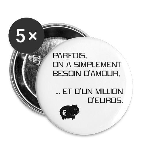 un-million-d'euros - Lot de 5 petits badges (25 mm)
