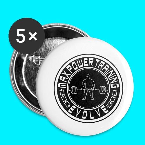 maxpowertraining_white - Confezione da 5 spille piccole (25 mm)