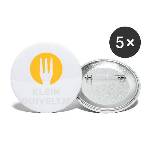 klein duiveltje - trident - Lot de 5 petits badges (25 mm)