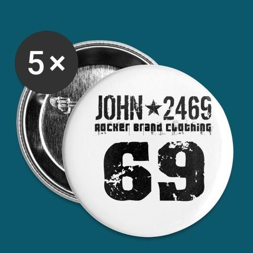 john 2469 numero trasp per spread nero PNG - Confezione da 5 spille piccole (25 mm)