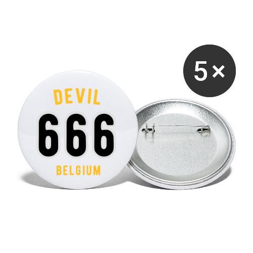 666 devil Belgium - Lot de 5 petits badges (25 mm)