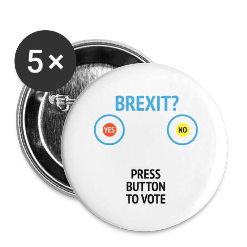 Brexit: Press Button To Vote - Buttons/Badges lille, 25 mm (5-pack)