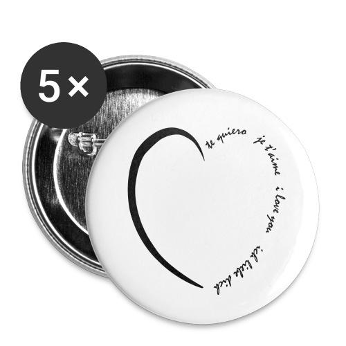 Multi Love - Lot de 5 petits badges (25 mm)