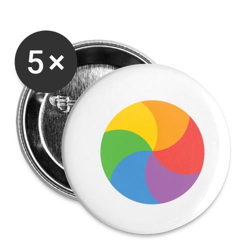 BeachBal - Buttons klein 25 mm (5-pack)