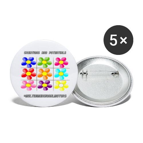 logo of my #MultiDimensionalMotors blog - Confezione da 5 spille piccole (25 mm)