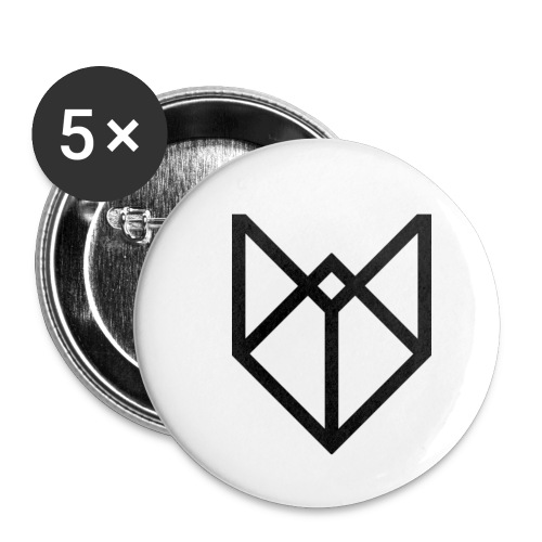 big black pw - Buttons klein 25 mm (5-pack)