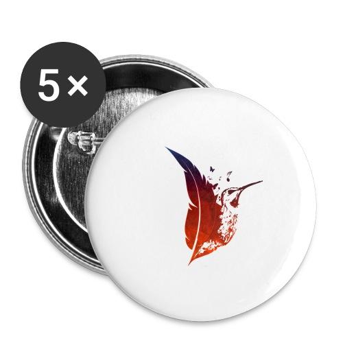 Colibri flamboyant - Lot de 5 petits badges (25 mm)