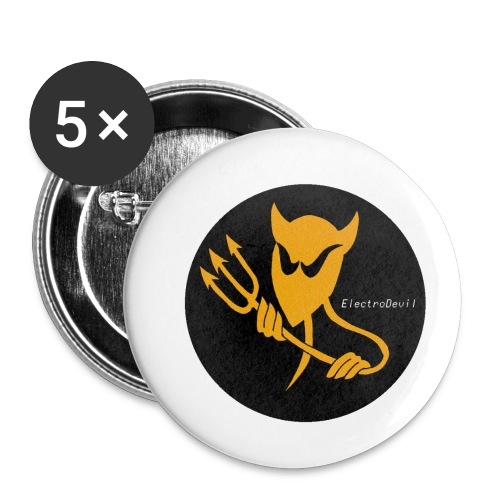ElectroDevil T Shirt - Buttons small 1''/25 mm (5-pack)