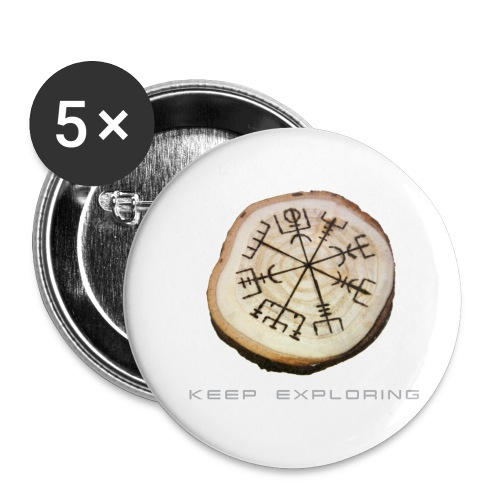 VHEH Vegvisir - Buttons small 1''/25 mm (5-pack)