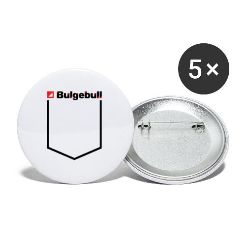 BULGEBULL-POCKET2 - Paquete de 5 chapas pequeñas (25 mm)