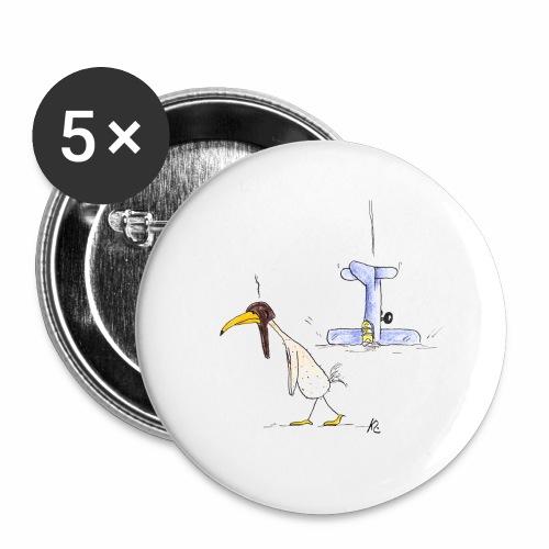 cartoon_Kleimdesign_abstu - Buttons klein 25 mm (5er Pack)