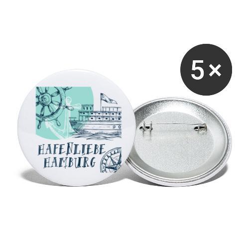 Hafenliebe - Buttons klein 25 mm (5er Pack)