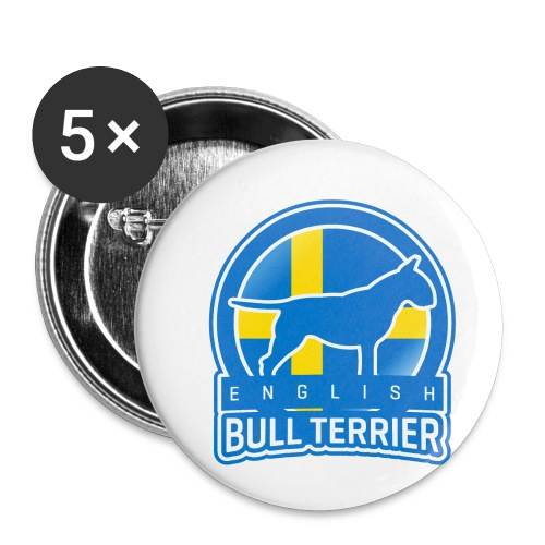 Bull Terrier Sweden - Buttons klein 25 mm (5er Pack)