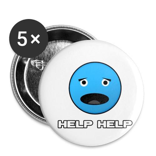 Shirt Help Help - Buttons klein 25 mm (5-pack)