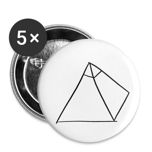 Tasse Blanche/Noir - Logo Noir P Y R A - Lot de 5 petits badges (25 mm)